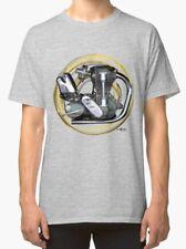 Norton International Icon Moteur Vintage Moto T-shirt inished Productions