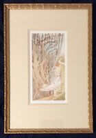 Joy Wallace Hand Colored Art Deco Etching Signed and Titled in Pencil
