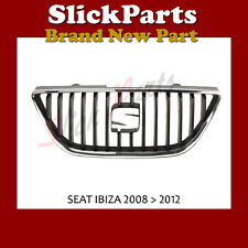 SEAT IBIZA GRILLE 2008 2009 2010 2011 2012 BLACK WITH CHROME TRIM *BRAND NEW*