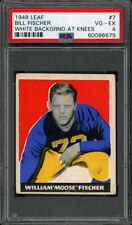 1948 LEAF #7C WILLIAM FISCHER RC (WHITE BACKGROUND AT KNEES) PSA 4 VG-EX Pop 7