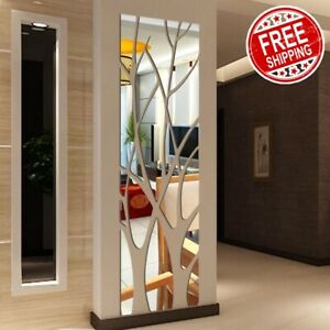 Modern Mirror Style Removable Decal Art Mural Wall Sticker Home Room Décor New.