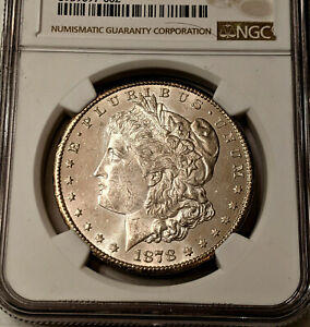 1878-CC MORGAN FROSTY REFECTIVE ~ NGC MS UNC DETAILS ~UNDERGRADED ~👀 READ