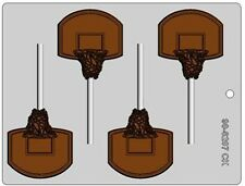 Basketball Hoop Chocolate Lollipop Candy Mold CK #6207 -  NEW