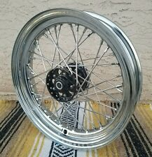 "BLACK STAR HUB, CHROMED WHEEL 16"" X 3.00 W/TIMKEN BRGS HD HARLEY CHOPPER BOBBER"