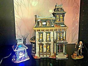 Department 56 Halloween Mordecai Mansion Set #4025337 , 4025345 & 4025402