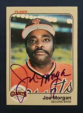 Joe Morgan 1983 Fleer Signed Card #270 -- San Francisco Giants -- HOF AUTOGRAPH