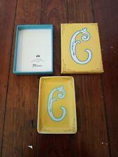 Rosanna Alphabet Studio Porcelain Mini Dish Tray With Letter C