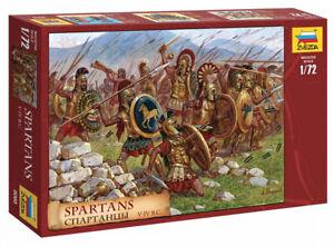 Plastic Toy Soldiers Antique Warriors Spartans V-IV ВС scale 1:72 ZVEZDA