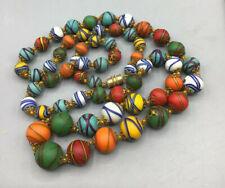 Vintage Italian Murano graduated necklace knotted unusual crisscross design