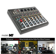 MAXTOMARS M7 7Channel Mixer USB Input Mic-Line Professional Audio Mixing Console