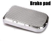 Chrome Beveled Brake Pedal Pad Cover for harley softail Heritage Springer Fat Bo