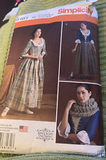 Simplicity 8161, Am. Duchess, Gown/Laced Bodice & Petticoat Sz 14-22 Cut