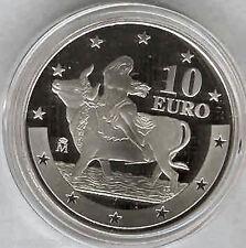 10 Euros 2003 Primer aniversario del Euro F.N.M.T. plata Proof