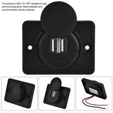 Mini Doppia Porta USB 12V auto LED impermeabile adattatore per presa Caricatore