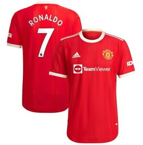 Adidas Cristiano Ronaldo Red Manchester United 2021/22 Home Authentic Jersey