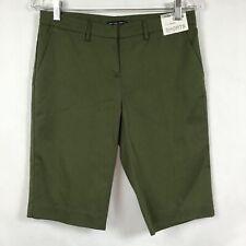 NY&C New York Company Sz 0 Shorts Summer Stretch Low Rise Army Green Bermuda