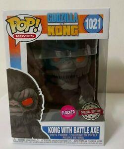 Funko Pop! Kong 1021 With Battle Axe Flocked Pop! Movies Godzilla vs Kong