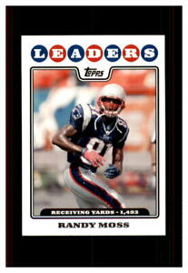 RANDY MOSS MINT TOPPS #293  2008 NEW ENRLAND PATRIOTS  ( FREE SHIPPING)