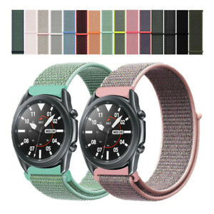Woven Nylon Sport Loop Watch Strap Band For Samsung Galaxy Watch 3 45mm 41mm