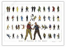 Affiche TED BENOIT Blake et Mortimer Galerie de personnages 89ex signée 50x70 cm