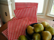 New listing Red Gingham 4 Cloth Dinner Napkins fabric and square