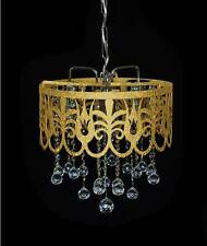 ORIENTAL CHANDELIER WITH REAL FINE LEAD CRYSTAL BALLS in Gold Silver or Lilac av