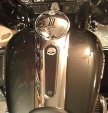 Harley Willie G Raised Skull Console Insert 2008 Up FLHX Street Glide Road Glide