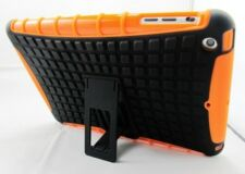 Orange Heavy Duty Strong Dual Layer Tough TPU Case Cover Stand for iPad Mini 1