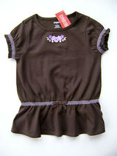 GYMBOREE Cowgirls At Heart Brown Cotton Flower Tunic Tee Top Girls 3 NEW