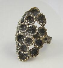 Vintage Guglielmo CINI Sterling Silver Art Nouveau Cluster Flower Blossom Ring