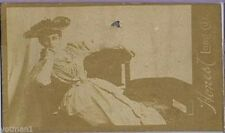Actresses, Lady Lounging with Fancy Hat, N150, 1880s, Honest Long Cut #20