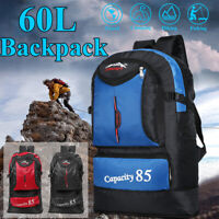 60L Outdoor Camping Travel Backpack Waterproof Mountaineering Hiking Sports Bag