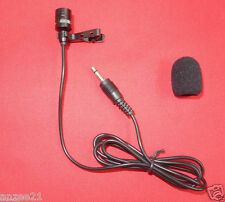 Black Tie Clips Lavalier Microphone Mic For Wireless Mike System 3.5mm Mono Plug