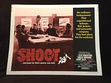 Original 1976 SHOOT Half Sheet Movie Poster 22 x 28 Ernest Borgnine