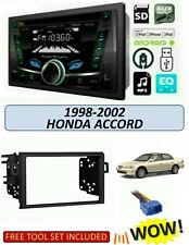 For 1998-2002 HONDA ACCORD Stereo Kit, POWER ACOUSTIK PCD-52B, BLUETOOTH USB CD