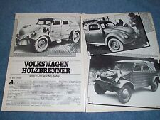 "1986 VW Wood-Burning Type 82 Info Article ""Volkswagen Holzbrenner"" Kubelwagen"