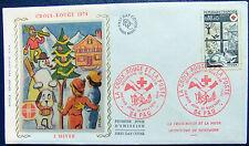 Enveloppe 1é jour du 20 11 1974 La Croix Rouge & La Poste Secourisme de montagne