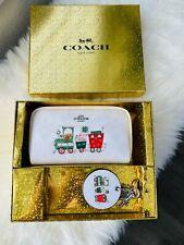 Coach Women's Boxed Small Boxy Cosmetic Case & Mirror Bag Charm In Signature Nib