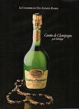 Publicité Advertising 1981 Comtes de CHAMPAGNE par Taittinger
