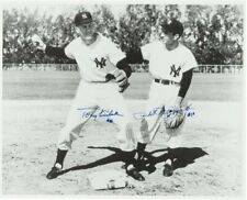 "Phil Rizzuto and Tony Kubek Signed Photo 16 x 20"" LOA JSA NEW YORK YANKEES"
