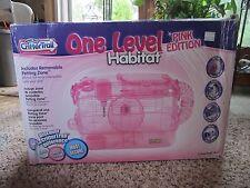 Super Pet Critter Traill Habitat Pink Hamster Cage Wheel Bowl Water Bottle