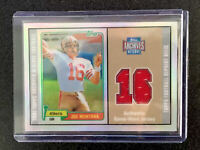 Joe Montana 1981 Topps Reserve RC #216 Relic Game Worn Jersey Patch *MINT*RARE!!