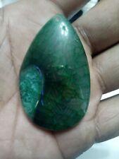Green Druzy Dragon Vein Agate 116.5 CT Teardrop