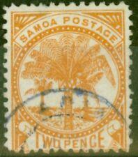 Samoa 1886 2d Dull Orange SG23 Fine Used (2)