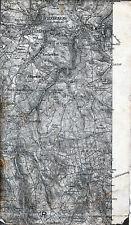 Aue Schneeberg Eibenstock Steinheidel 1914 orig. Teilkarte/Ln. Zschorlau Bockau