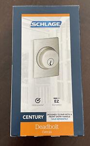 Schlage Century Outside Single Cylinder Deadbolt Lock - Satin Nickel