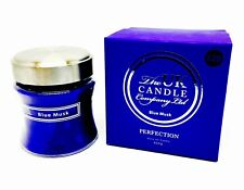 UK CANDLE COMPANY LARGE GLASS JAR 3 WICK BLUE MUSK SCENTED CANDLE 650g