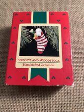Hallmark Keepsake Peanuts Snoopy and Woodstock Handcrafted Ornament 1972 #A
