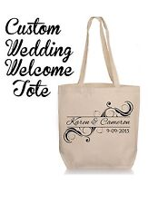 Personalized Wedding Gift Tote-  Groom and Bride Wedding Favor