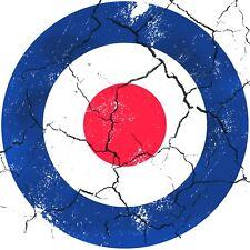 RAF DISTRESSED ROUND CIRCLE CAR VAN LORRY VINYL SELF ADHESIVE STICKERS